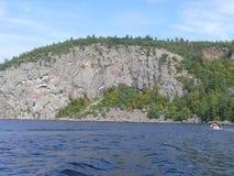 Rock in Pembroke. Canada, north America. Rock in Pembroke. Canada north America royalty free stock photos