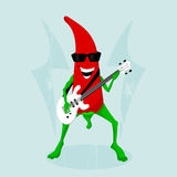 Rock pepper. With guitar. vector forman Royalty Free Stock Photo