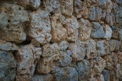 Rock perspective background. Grungy brown rock perspective background Stock Photo