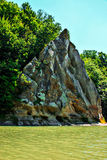 Rock. The rock Petushok, green forest and a river stock images
