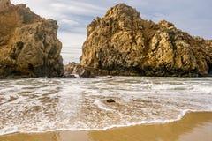 Rock at Pfeiffer Beach, California Stock Photo