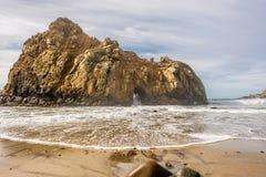 Rock at Pfeiffer Beach, California. Rock at Pfeiffer Beach, Big Sur, California, USA Stock Photography