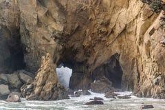 Rock at Pfeiffer Beach, California Royalty Free Stock Image
