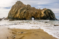 Rock at Pfeiffer Beach, California Royalty Free Stock Photos