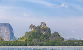 Rock Pha Nga Bay in Thailand.  Royalty Free Stock Photo