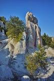 Rock phenomenon Stone Wedding near town of Kardzhali Royalty Free Stock Photo