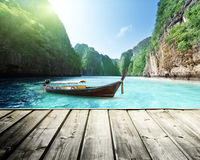 Rock of Phi Phi island in Thailand Royalty Free Stock Image