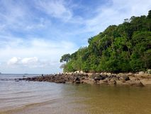 Rock on Phuket beach, Thailand Royalty Free Stock Image