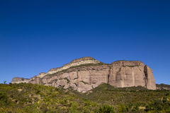 Rock. A piece of a huge mountain of brown stone formation, a special geological structure Stock Images