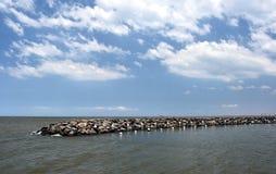 Rock pier at St Kilda. Stock Image
