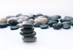 Rock pile. (focused) with rocks in the background Royalty Free Stock Image