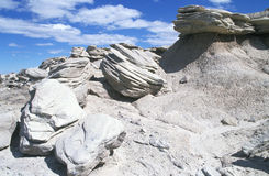 Rock Pile. A Rock Formation at Toadstool Nationa Park in Nebraska Stock Photo