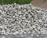 Rock pile. Rocks piled high stock images