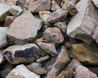 Rock Pile. Rocks of all shapes, sizes, and colors in a pile Royalty Free Stock Images