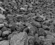 Rock pile black and white Royalty Free Stock Photos