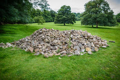 Rock Pile. A pile of boulders in a meadow royalty free stock photos
