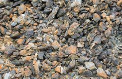 Rock pile from disused copper mine. Rock pile from an old disused copper mine Royalty Free Stock Image