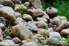 Free Rock Pile On The Side Of The Road Stock Photos - 144044963