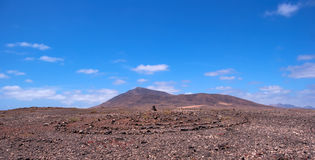 Rock pile and stone circle in lanzarote Royalty Free Stock Photos