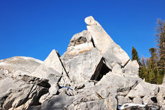 Rock piles and mountains Stock Image