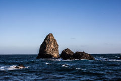 Rock pillar in the sea Stock Photo