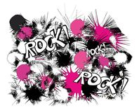 Rock pink black and white pattern Royalty Free Stock Photos