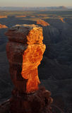 Rock Pinnacle. A rock pedestal at Mulley Point, Utah Stock Image