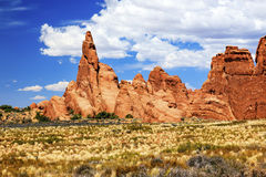 Rock Pinnacle FormationGrasslands Arches National Park Moab Utah Royalty Free Stock Photo