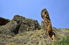 Rock pinnacle in Galilee, Israel Royalty Free Stock Photo