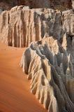 Rock pinnacles at the Fairy stream, Mui Ne, Vietnam Stock Photos