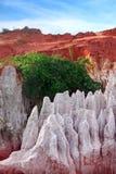 Rock pinnacles at the Fairy stream, Mui Ne, Vietnam Stock Photo