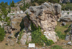 Rock of the piti, Delphes, Greece Stock Images