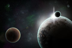 Planets in space Royalty Free Stock Images