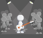Rock player icon Stock Photography