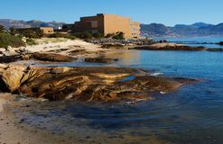 Rock pool. Ocean rock pool at boulders in Capetown south Africa, the home of a penguin colony Stock Images