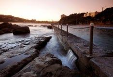 Rock Pool. Ocean beach coastal rock pool at sunset Royalty Free Stock Photos