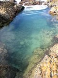 Rock pool. At the seaside stock images