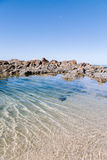 Rock pool. A rock pool with clear water Royalty Free Stock Photography