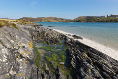 Rock pool Morar coast Scotland UK beautiful coastal Scottish tourist destination located south of Mallaig. Morar coast Scotland UK beautiful coastal Scottish Stock Photo