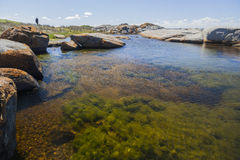 Rock pool near Bingi Bingi point. Bingie (near Morua). Aus Royalty Free Stock Photography