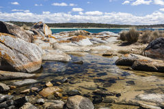 Rock pool near Bingi Bingi point. Bingie (near Morua). Australia Stock Photos