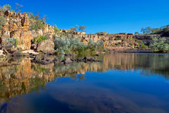 Rock pool in outback Australia. Royalty Free Stock Image