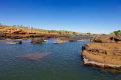 Rock pool in outback Australia. Stock Image