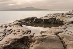 Rock pool at sunset Stock Photography