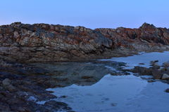 Rock Pool. Walking along the sand flats at low tide Royalty Free Stock Images