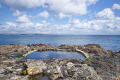 Rock Pools At Mousehole Stock Photo