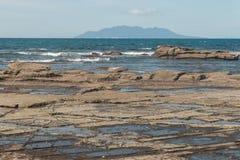 Rock pools at Omaha Bay Royalty Free Stock Images