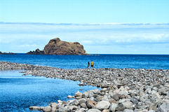 Rock pools on the seafront Stock Images