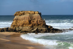 A rock in Porto Novo, Portugal Royalty Free Stock Photography