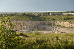 Rock Quarry Stock Image